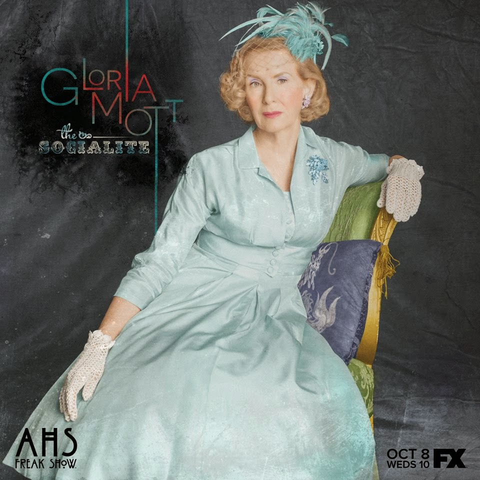 Frances Conroy as Gloria Mott the socialite in American Horror Story Freak Show Season 4 Episode 2 Massacres and Matinees