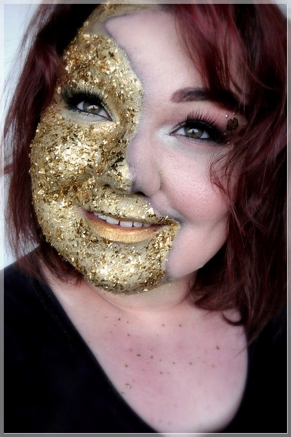 gold foil makeup look