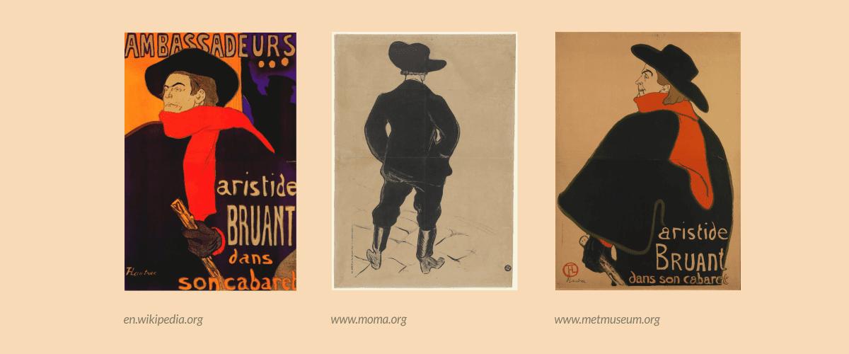 Peristiwa Penting Dalam Desain Grafis - Aristide Bruant, Toulouse Lautrec