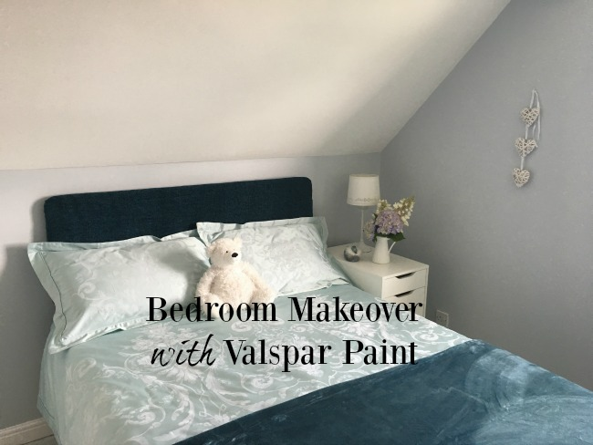 Bedroom-makeover-with-Valspar-Paint-text-over-image-of-bedroom