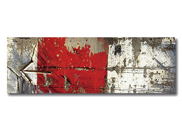 urban art, urban photography, urban decay, panoramic, red, white, grey, wall art, contemporary, Sam Freek,