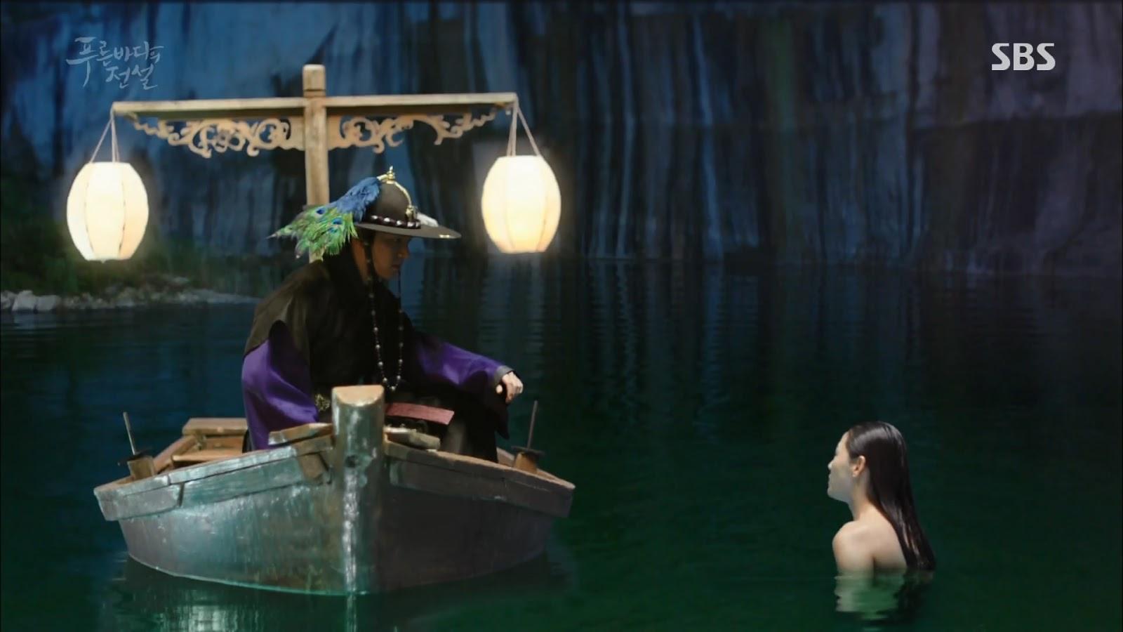 Screenshot Joon Jea And Cheong Yi Beginning Scene The Legend Of The Blu Sea (2016)  1080p Episode 03 - www.uchiha-uzuma.com