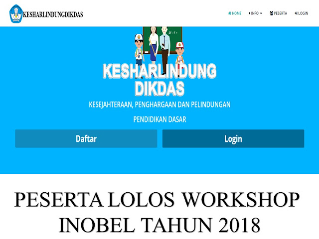 Peserta Lolos Tahap Workshop Inobel 2018