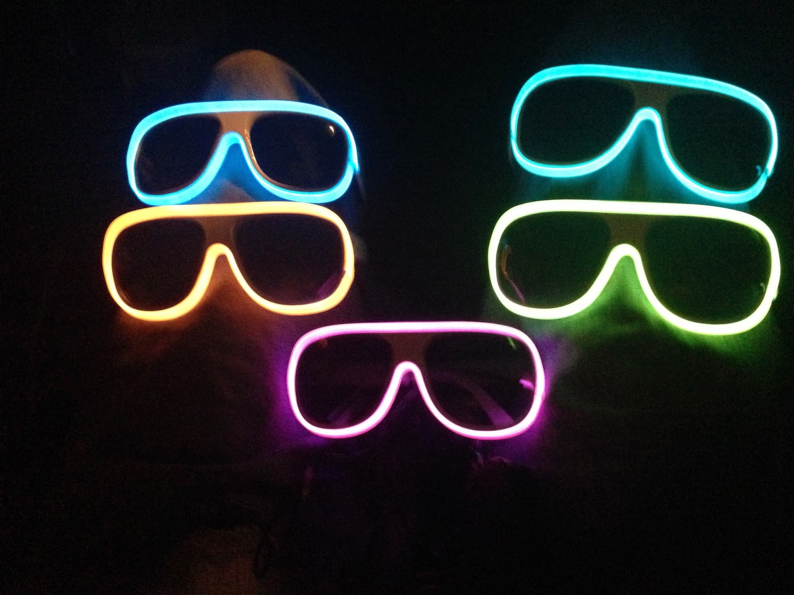 ffda3896373a0 MIAMIVIDEOKINGS DJALEX K And BLACK CHINEY SupaDups with Custom Light Up  Glasses by NightclubShop
