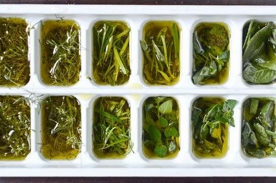 nat rlich gesund frische kr uter in oliven l einfrieren. Black Bedroom Furniture Sets. Home Design Ideas