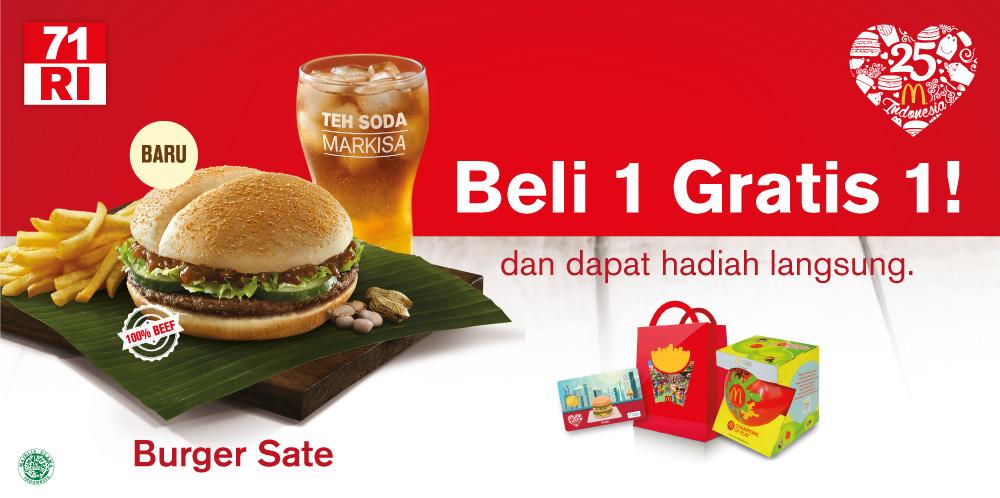 McDonald's Drive Thru Special Promo HUT RI ke-72