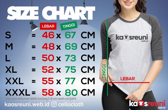 Size Chart Ukuran Kaos Reuni