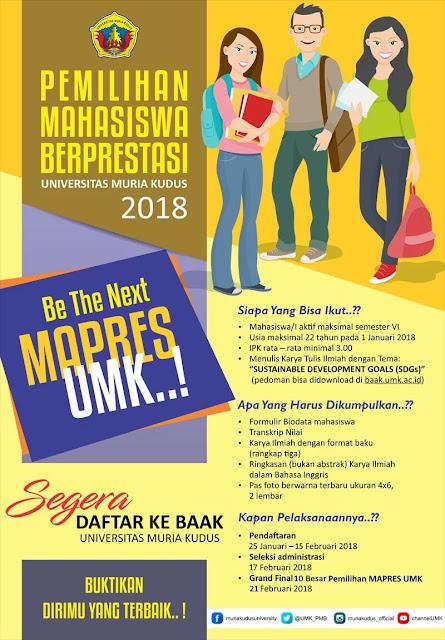 Pedoman PILMAPRES Universitas Muria Kudus Program Sarjana 2018