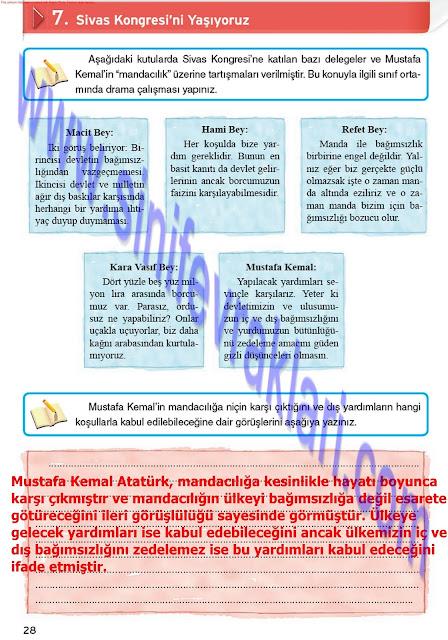 8. Sınıf İnkılap Tarihi Çalışma Kitabı Cevapları Top Yayınları Sayfa 29