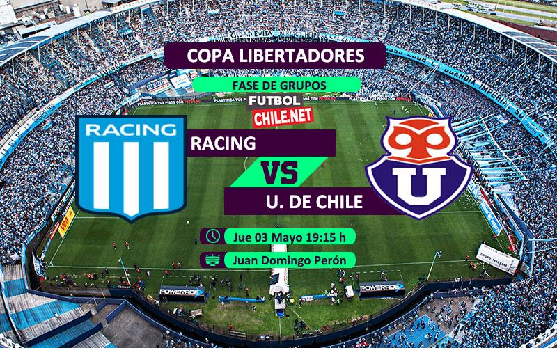 Mira Racing vs Universidad de Chile en vivo y online desde las 19:15 por la Copa Libertadores 2018