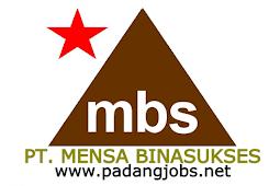 Lowongan Kerja Padang: PT. Mensa Binasukses Maret 2018