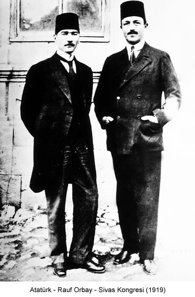 Atatürk Rauf Orbay 1919 Fotoğraf