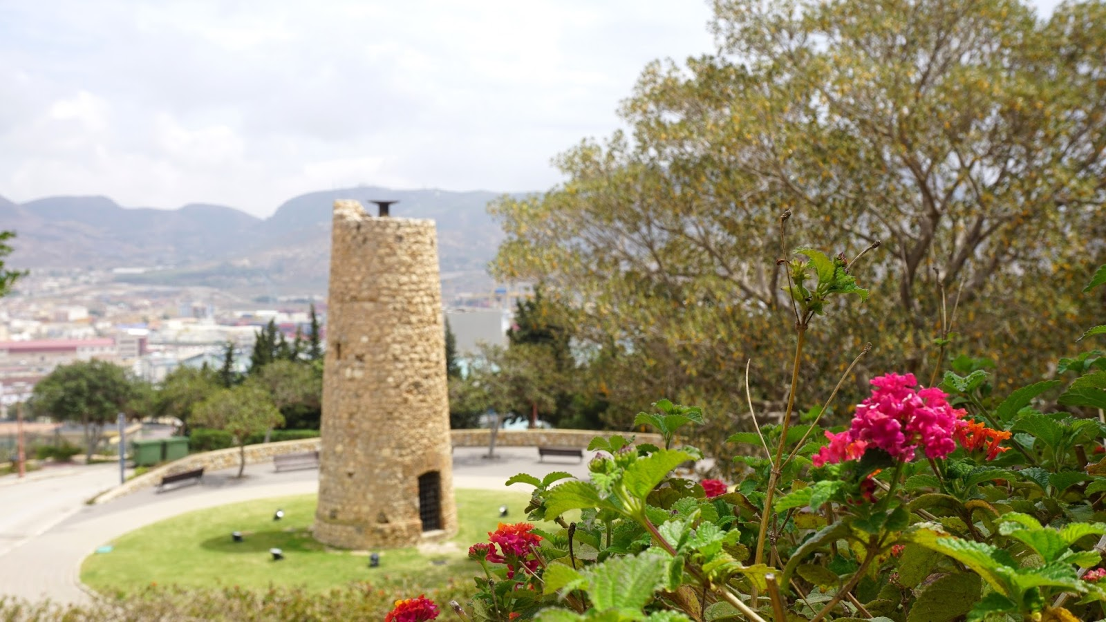 ogród przy Castillo de la Concepcion, Hiszpania, Kartagena, prowincja Murcja,  Costa Calida