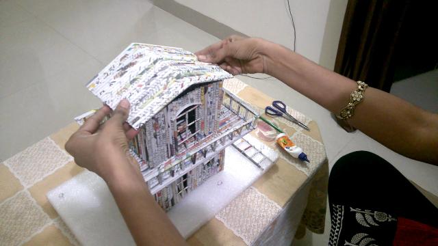 Newspaper Craft How To Make A Paper House Very Easy Gocrafta