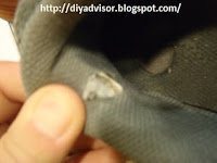 This shows the running inside collar is damaged
