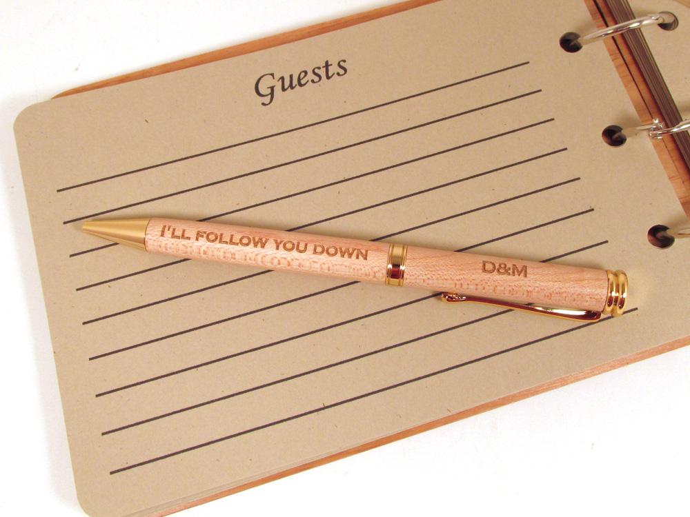 Memories For Life: Wood Guest Book Pens