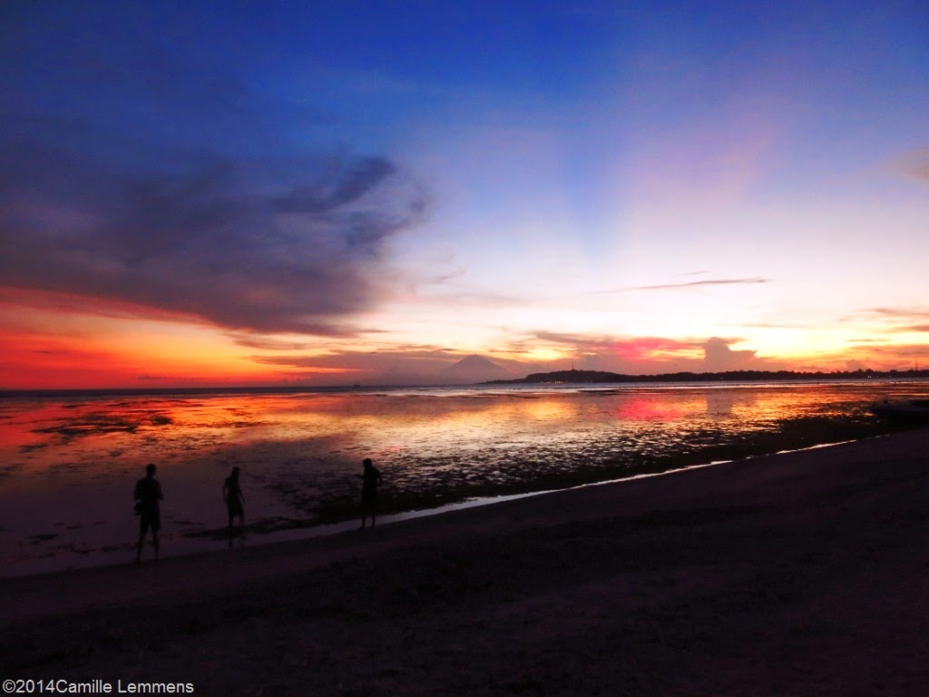 Sunset on Gili Air in Indonesia