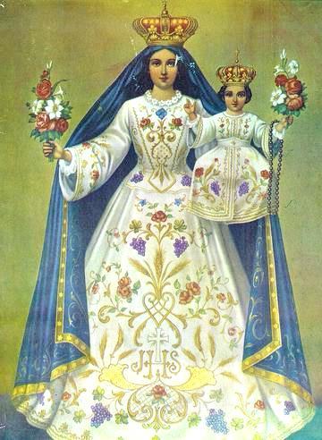 Imagen de la Virgen de la Candelaria o Nuestra Señora de la Candelaria con el niño Jesús