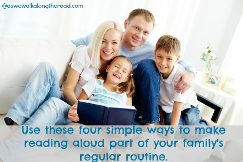 The routine of reading aloud with kids