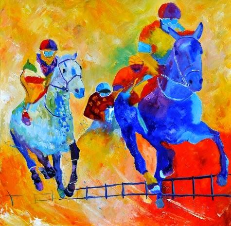 Cavalo de Raça - Cores fortes e vibrantes nas pinturas de Pol Ledent