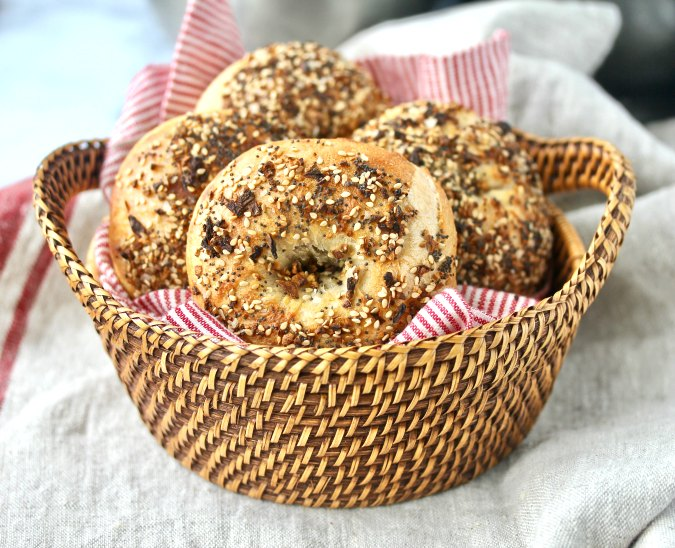 Everything Sourdough Bagels
