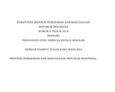 Download Penyiapan Calon Kepala Sekolah Satuan Pemerintah Daerah/Masyarakat sesuai Permendikbud No 6 Tahun 2018