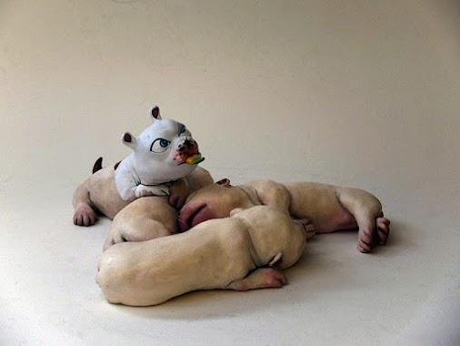 JAVIER AGUILERA in OKENDO KULTUR ETXEA exhibition Art Toys ART TOYS by JAVIER AGUILERA Artist from SPAIN...