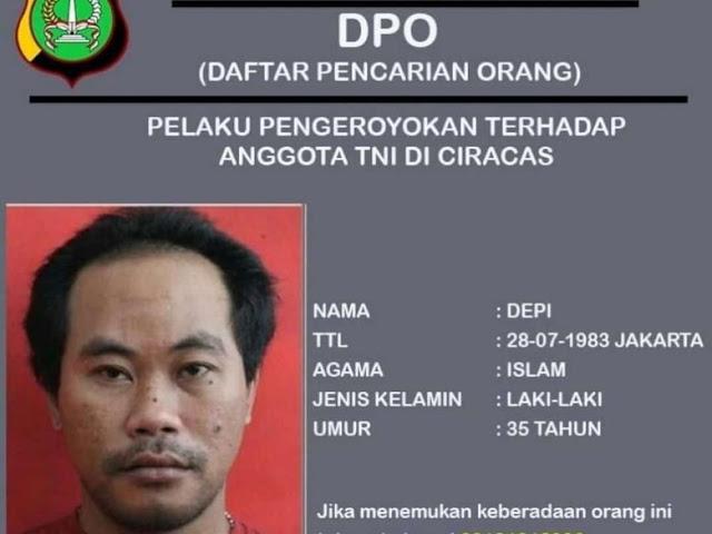 Polisi Ciduk Depi, Buronan Pengeroyok Anggota TNI