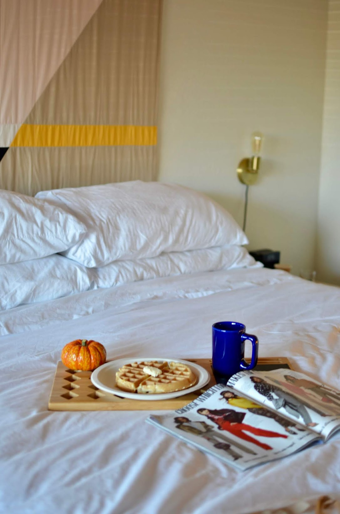 The Sandman Hotel Santa Rosa hotel, chic wine county hotel, retro hotel, breakfast in bed, fall decor, autumn decor