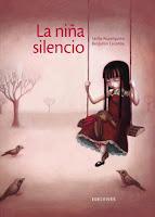 """Portada del libro """"La niña silencio"""", de Cécile Roumiguière y Benjamin Lacombe"""