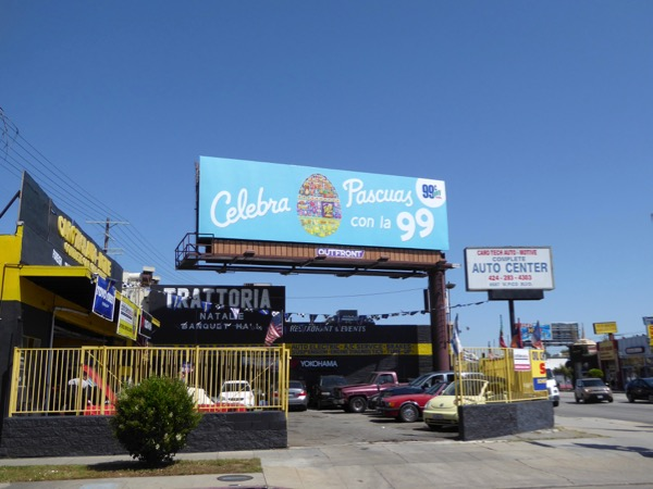 Celebra Pascuas 99c Easter egg billboard