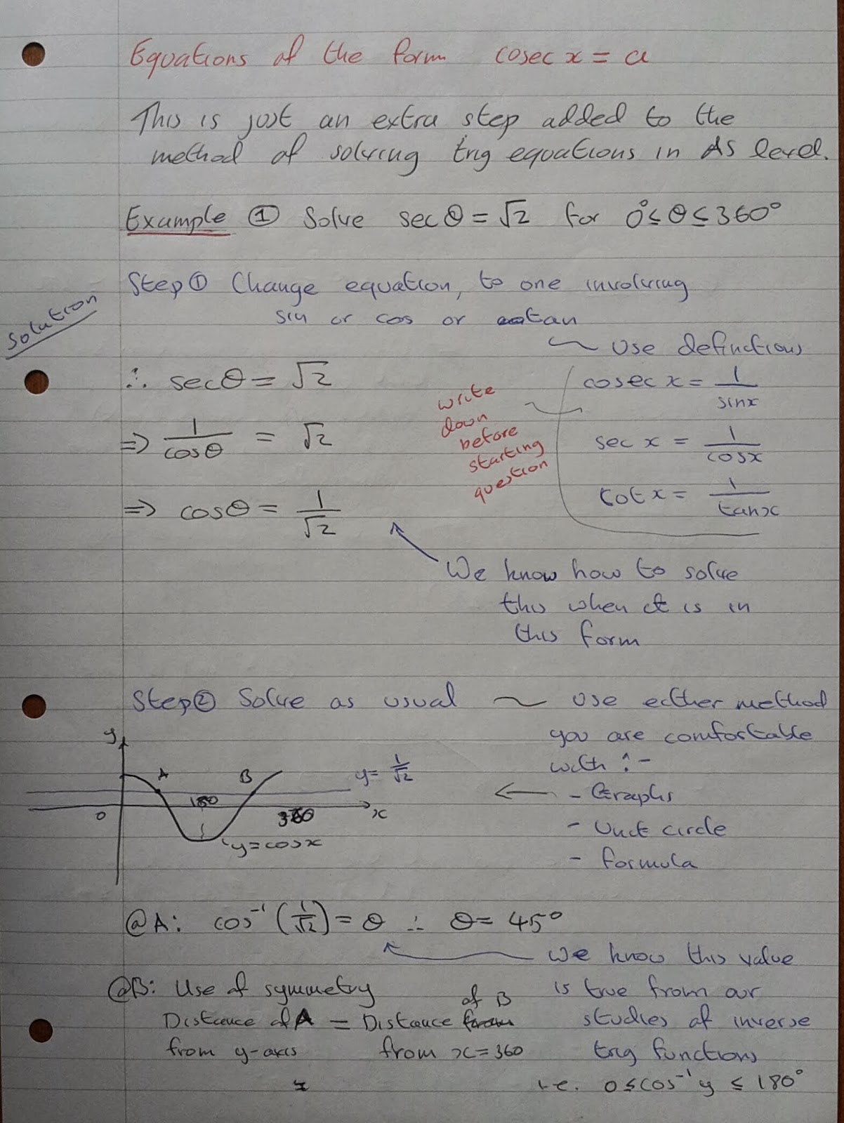 A Level Maths Notes A2