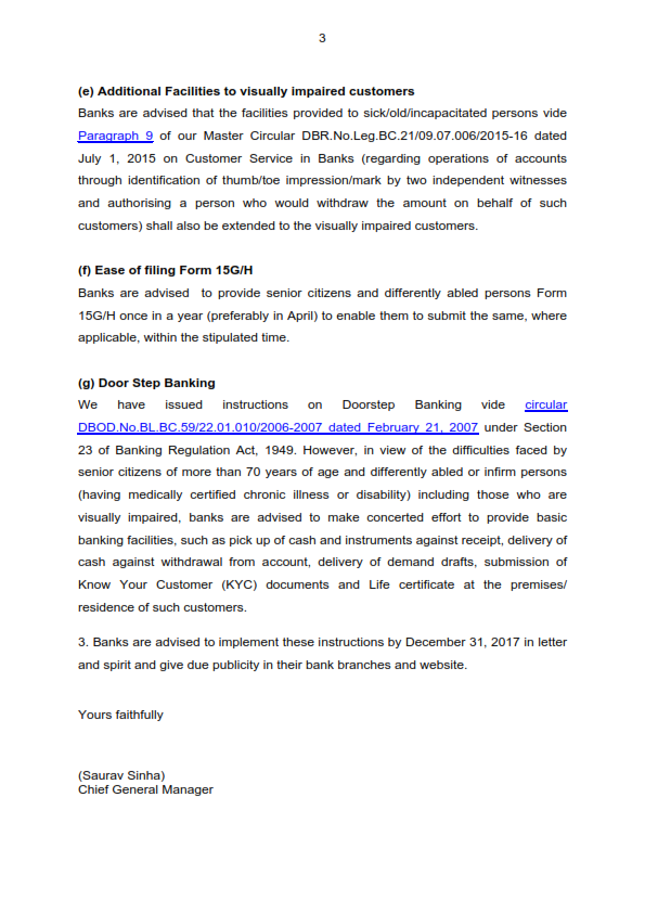 rbi circular : master circular - scheme of penalties for bank branches based on performance in rendering customer service to the members of public.