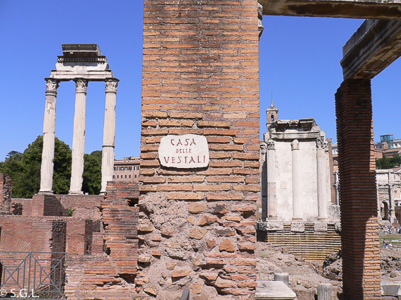 Casa de las Vestales. Roma