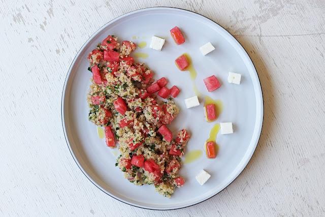 Κινόα Σαλάτα με Καρπούζι