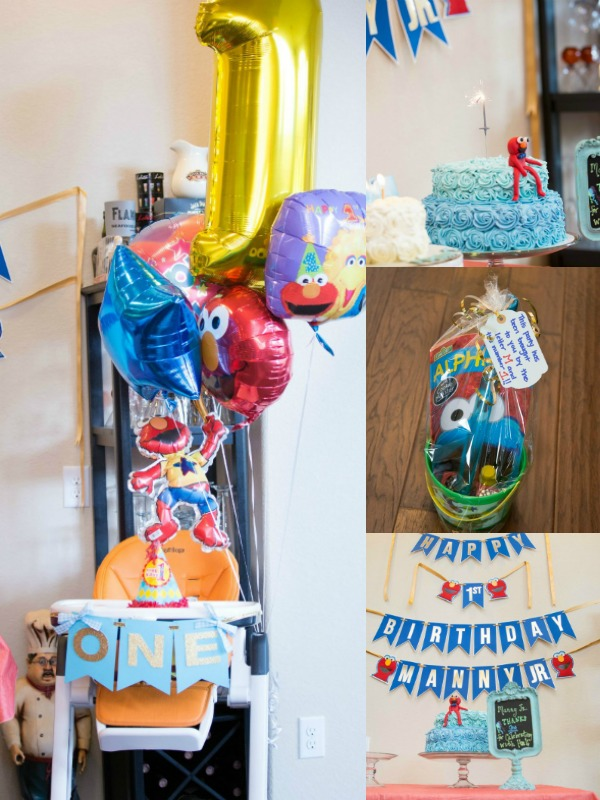 Sesame Street first birthday party theme collage.