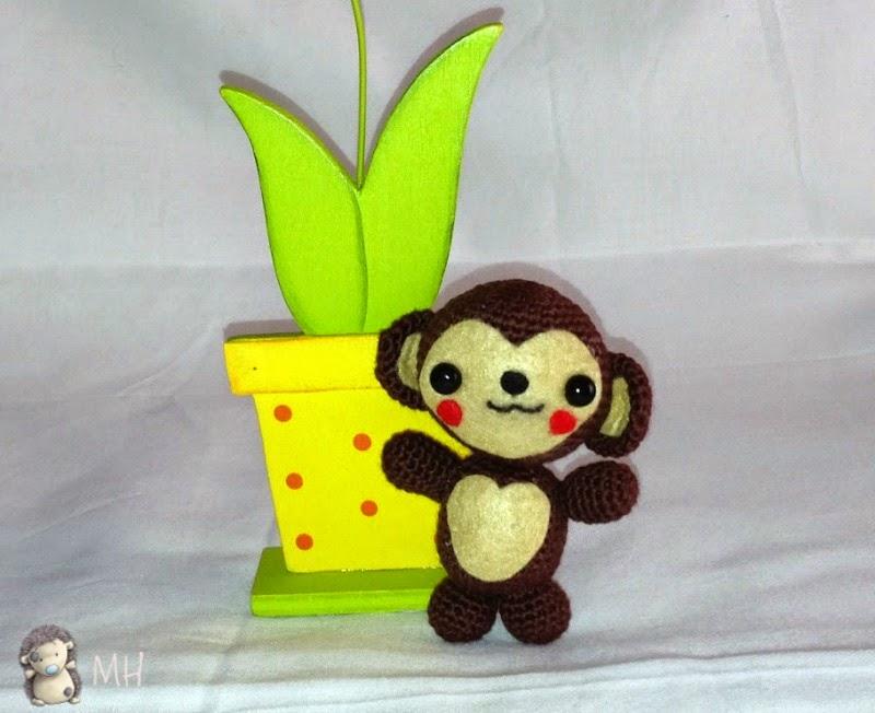 Mono amigurumi a crochet