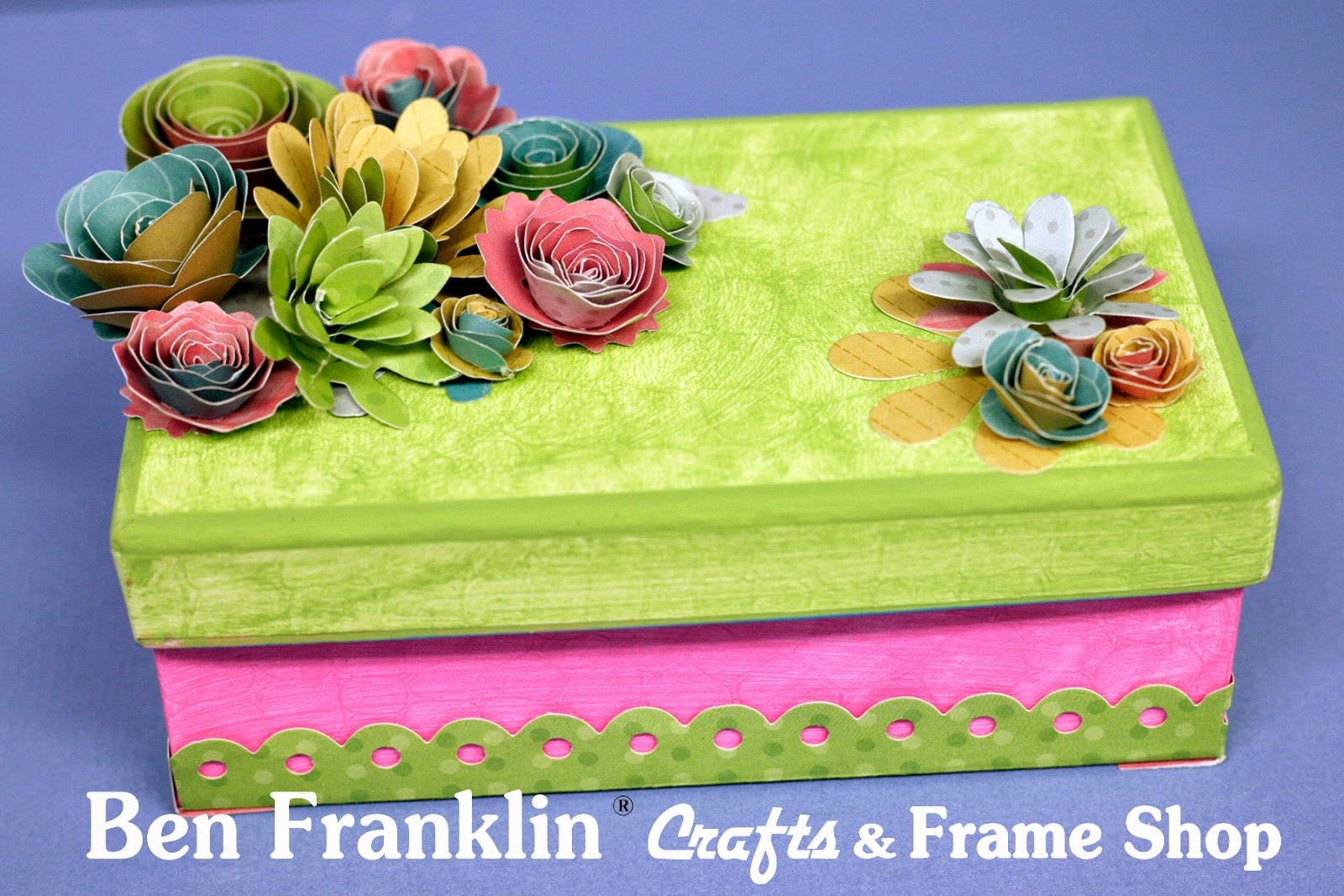 Ben Franklin Crafts And Frame Shop Diy Paper Flower Gift Box For