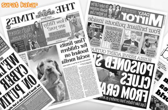 gambar dari alat komunikasi modern surat kabar
