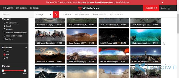 videoblocks video 360