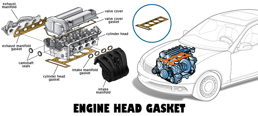 Engine assembly with head gasket