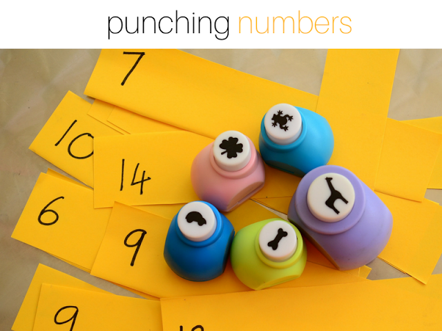 Got Bored Kids? 17 Practical Mom Ideas to try right away! Punching NUmbers