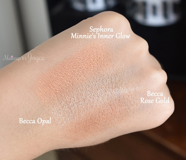 Sephora Disney Minnie's Inner Glow Swatches