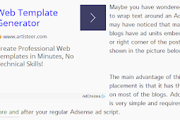 Wrap text around Adsense block in left or right corner