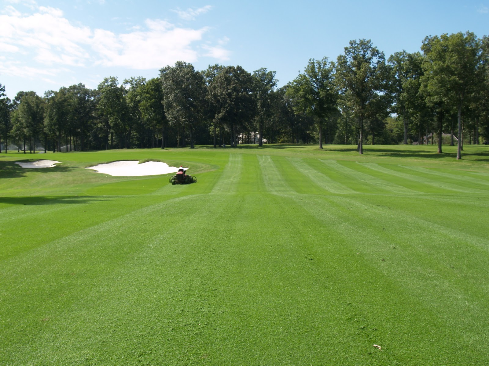 FOUNDRY TURF CARE DEPARTMENT: First Cut of Ryegrass