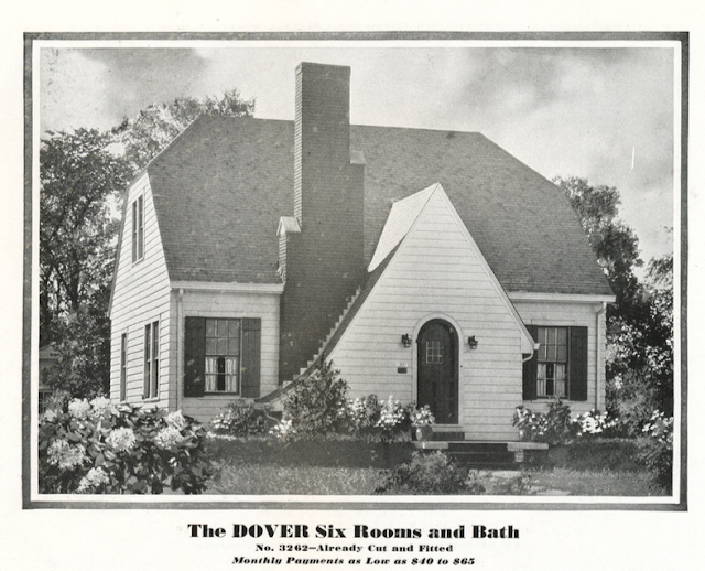 black & white photo from 1930 catalog of Sears Dover