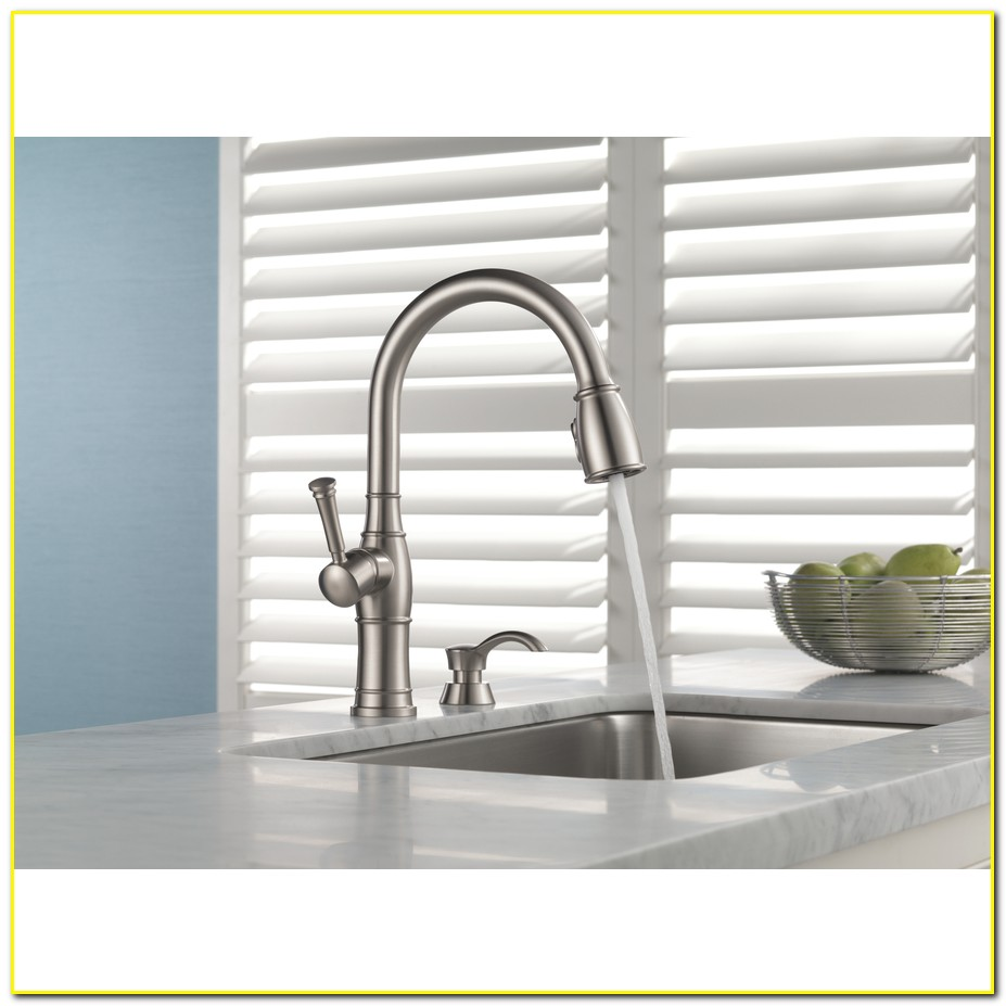 Kitchen Faucets Lowes Delta Valdosta Spotshield Stainless Handle - Delta valdosta kitchen faucet