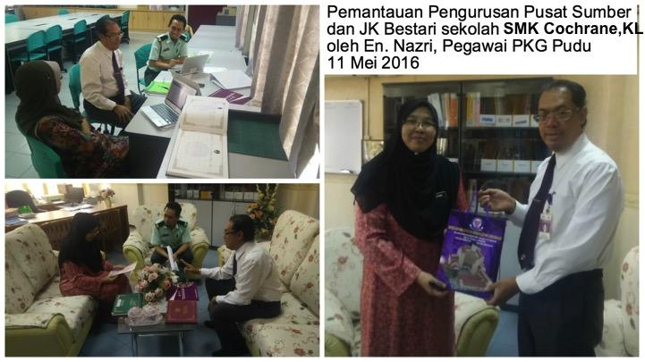 Pemantauan Program Pusat Sumber dan ICT oleh En. Nazri, Pegawai PKG Pudu