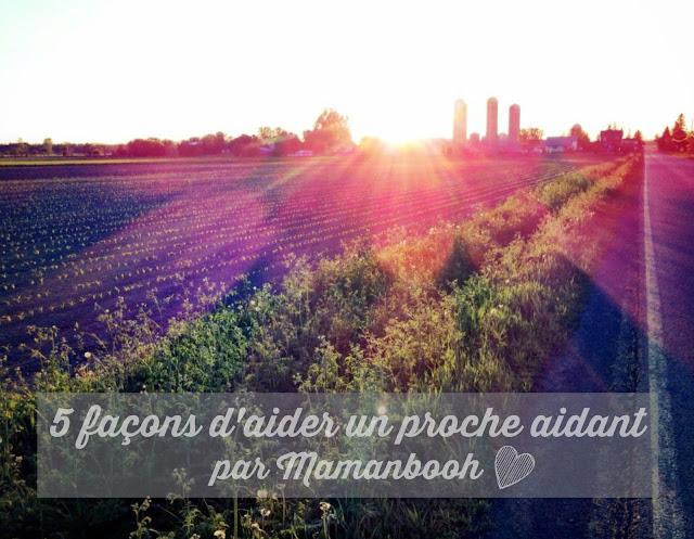 5 façons d'aider un proche aidant par Julie Philippon/Mamanbooh