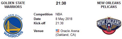 Golden State Warriors vs New Orleans Pelicans en VIVO